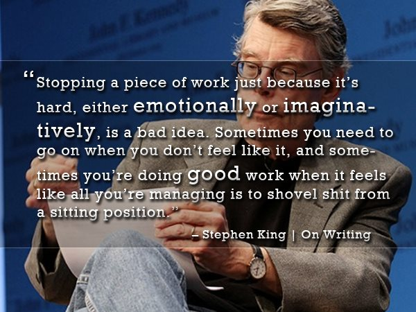 Stephen King quote on writing