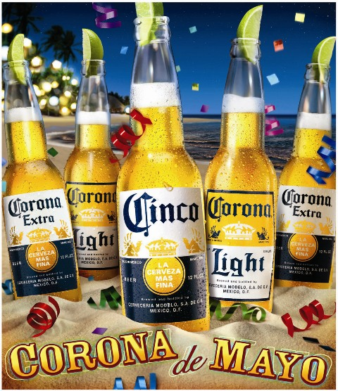 "Ad ""Corona De Mayo,"" creative commons."