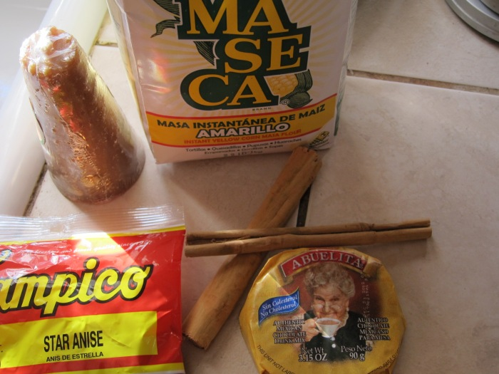 Ingredients for Champurrado