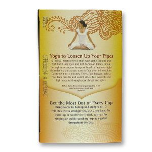 Yoga pose for colds-Throat Coat Tea by Yogi