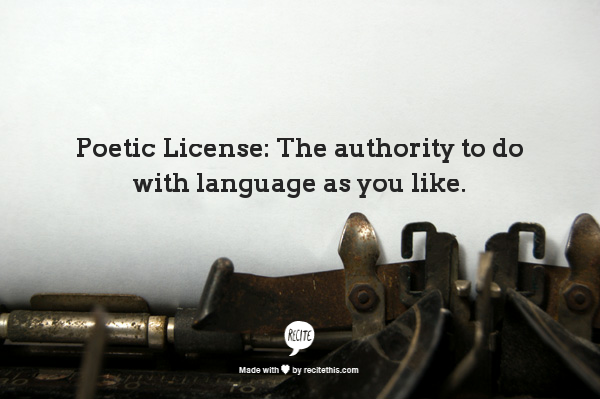 Poetic License-alvaradofrazier.com