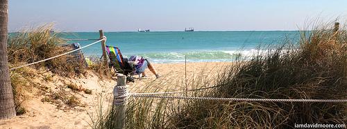 beach, reading
