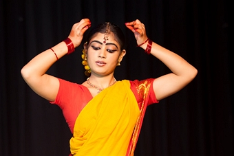 Classical Dancer in the style Bharatanatyam- gettyimages.com by elkor