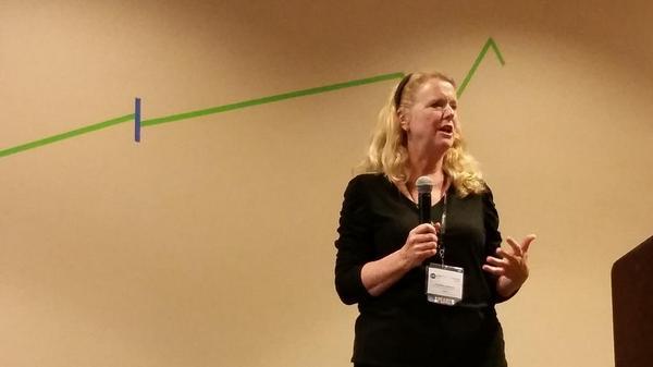 Martha Alderson, Plot Whisperer with her graph