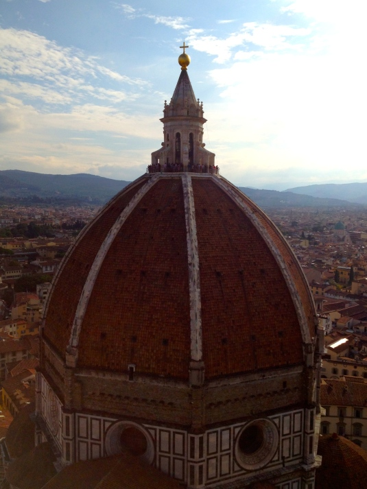 Only 414 steps to top for this view of Florence's Duomo
