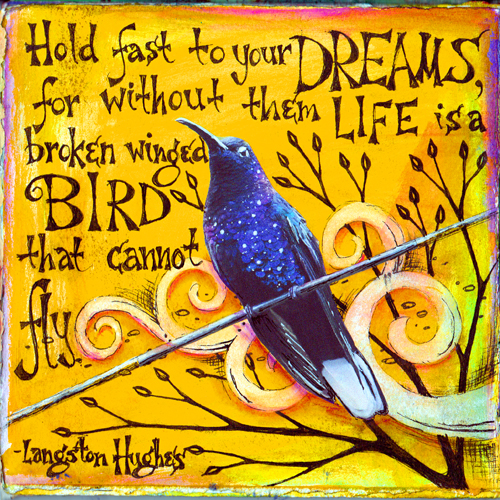 Langston Hughes quote on Journal-VickieHallmark, flickr.com