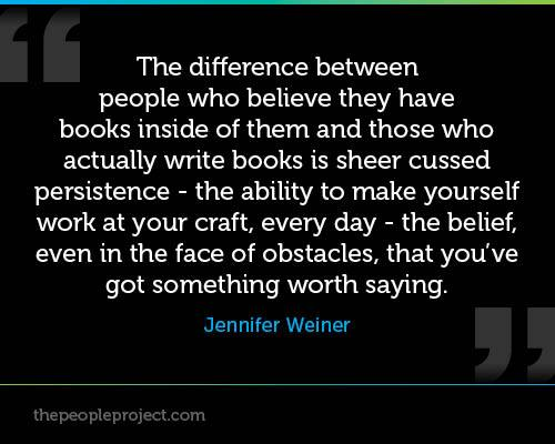 On writing-Jennifer Weiner