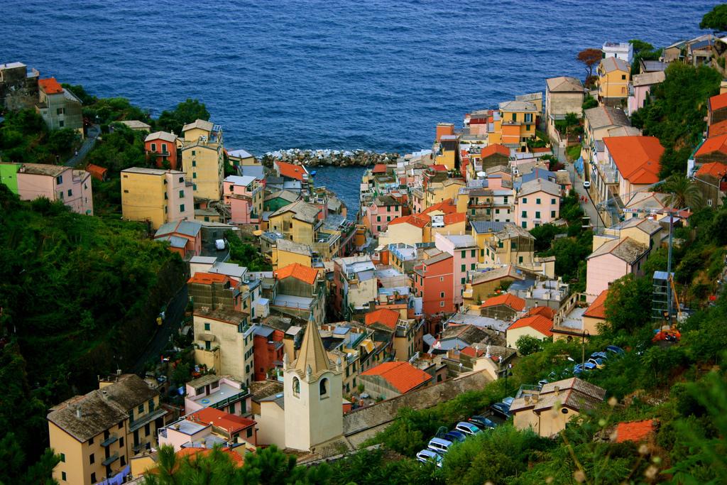 Vista view of village in Cinque Terre, Italy.