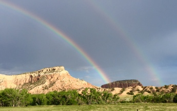 double rainbow, New Mexico, Ghost Ranch