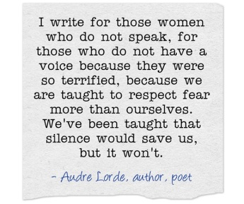 Quote on Writing-Audre Lorde. www.alvaradofrazier.com
