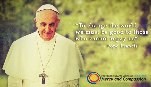 Pope Francis quote on mercy and compassion