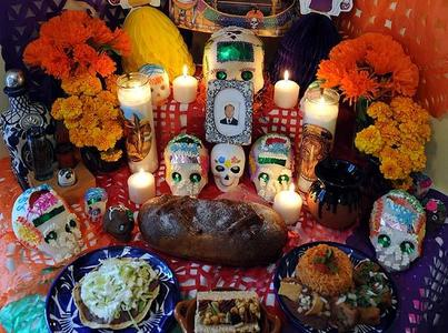 Example of Day of the Dead altar.
