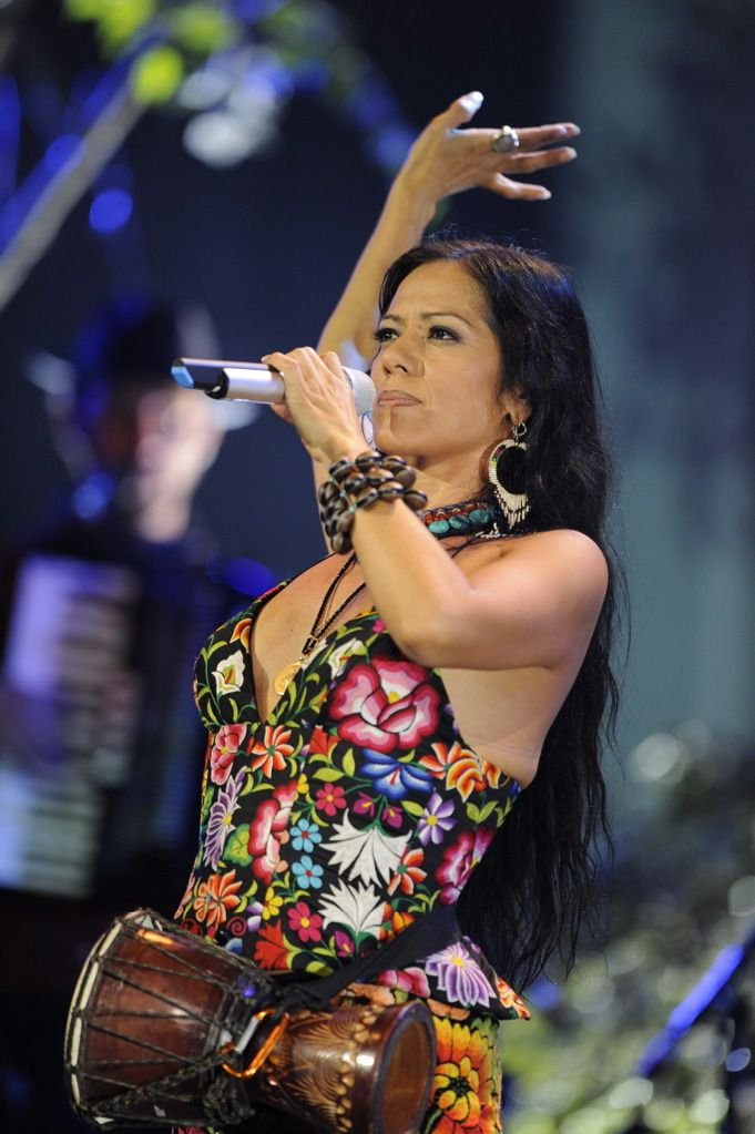Singer/Musician/Songwriter Lila Downs, born in Oaxaca, Mexico