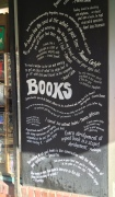 book quotes, bookstore window