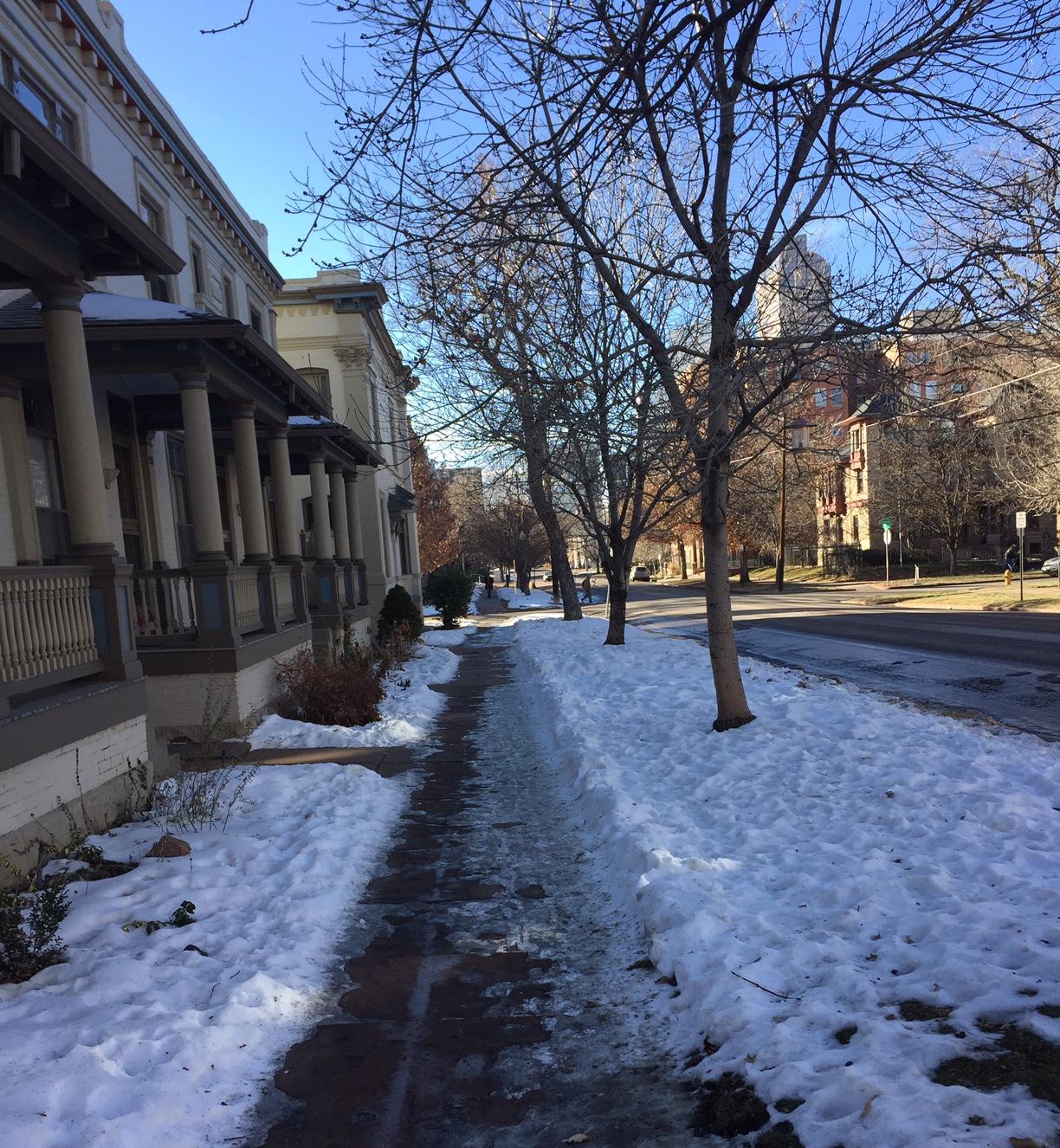 Capitol Hill neighborhood street, Denver