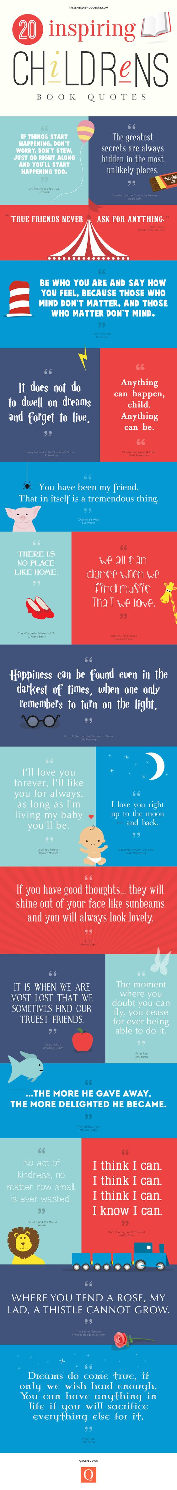 infograpic of quotes from children's books