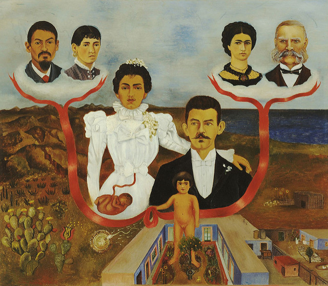 Family Tree by Frida Kahlo, photograph by Libby Rosoff, flickr.com cc