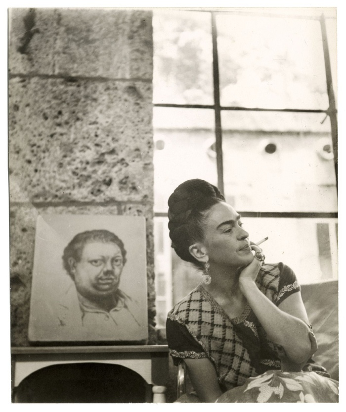 self portrait of Diego Rivera, Frida Kahlo, Lola Alvarez Bravo photographer