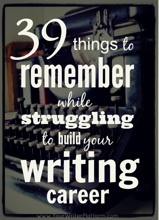 writing tips to build your writing career