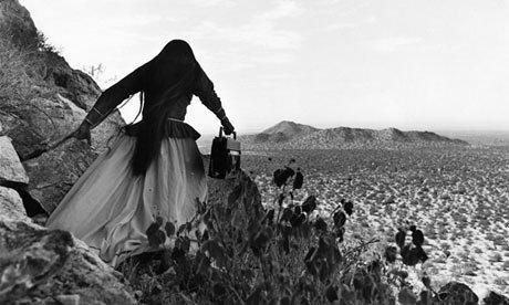 Mexican Seri Woman Crossing the Desert