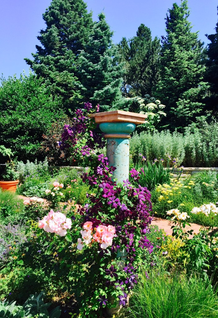 Pedestal of flowers-Denver Botanical Gardens photo by MAlvaradoFrazier