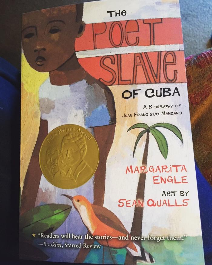 Book of poetry, cuban poet Juan Francisco Manzano