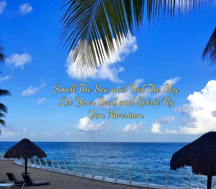 Smell the Sea, Van Morrison quote. Carribean ocean. www.alvaradofrazier.com