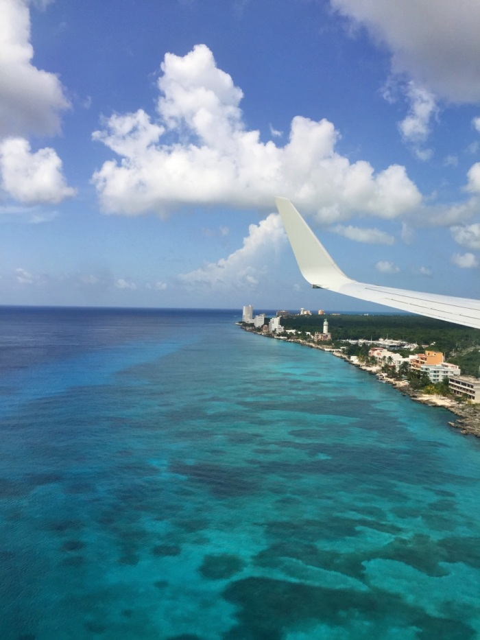Flying into Cozumel, Mexico