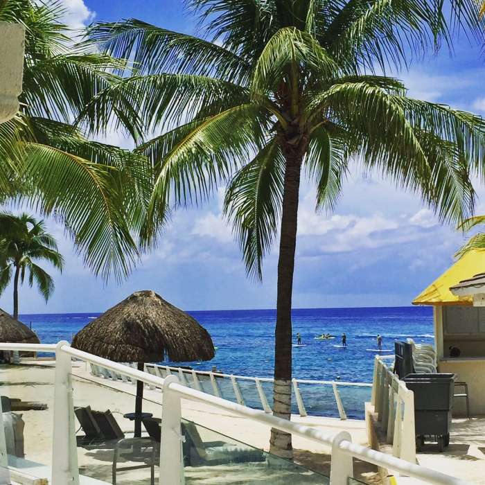 View of the Carribean from the room, Cozumel Palace, Mexico