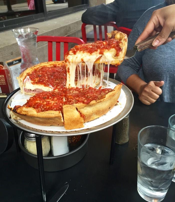 Giordano's pizza pie-Chicago