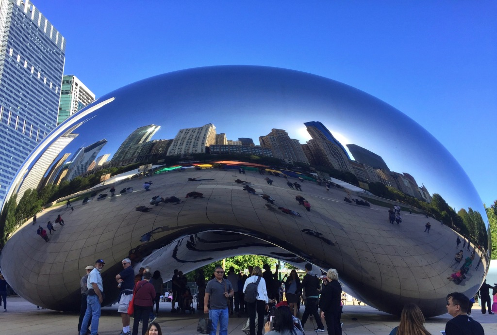 The Cloud Gate or Bean in Millennium Park, Chicago