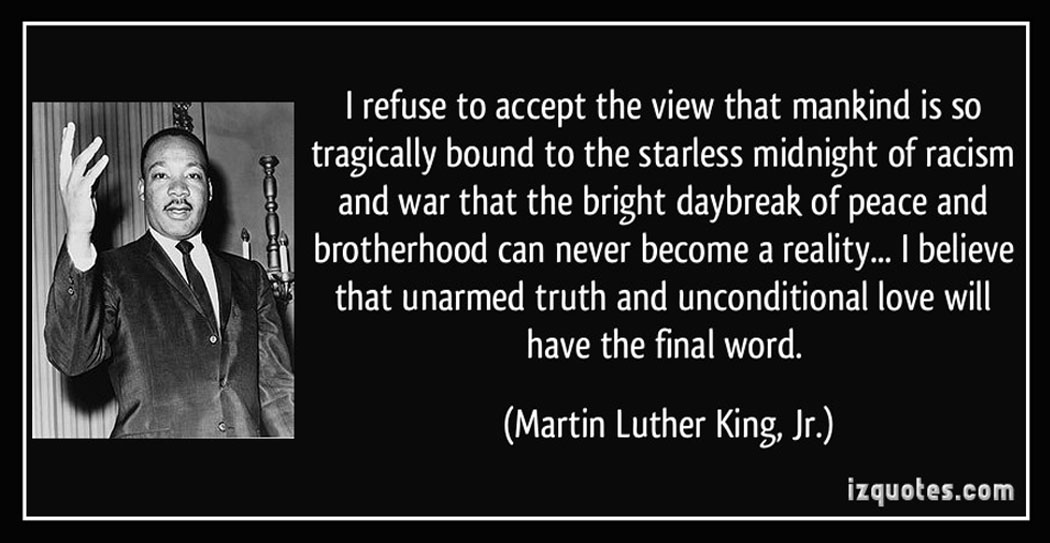 MLK Jr. Quote on Racism, Truth, Love