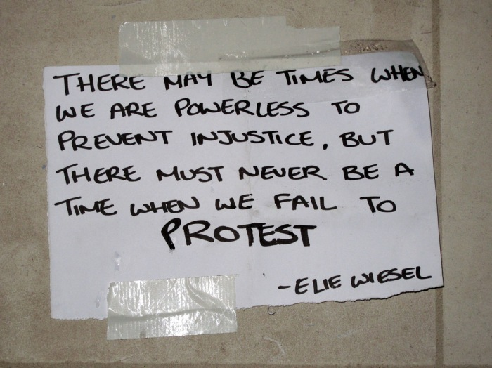 Injustice and Protest -quote by Elie Wiesel