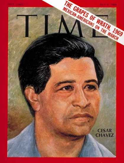 César Chávez on the cover of Time Magazine 1969