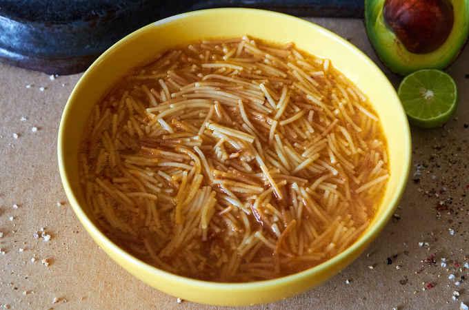 Mexican sopa de fideo